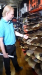 Claes, checking out some cymbals.
